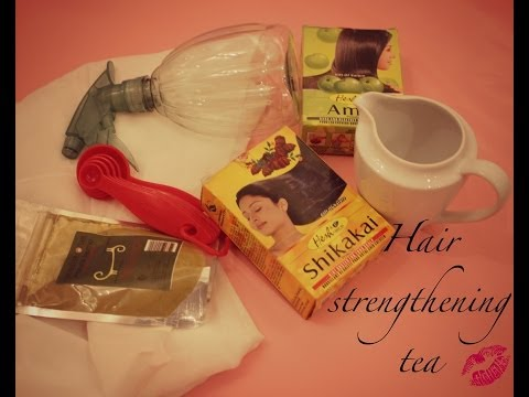 Best hair strengthening tea EVER - using HENNA AMLA AND SHIKAKAI