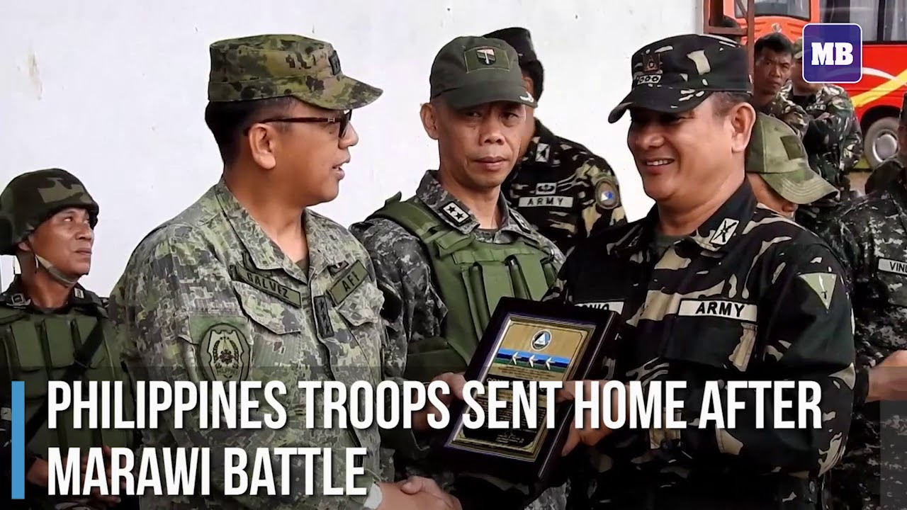 Philippines troops sent home after Marawi battle