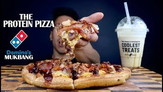 [MUKBANG] THE ULTIMATE PROTEIN PIZZA 11TOPPINGS! + SALTED CARAMEL SHAKE