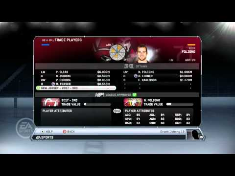 NHL 12: GM Mode Commentary New Jersey ep. 4