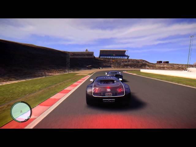 GTA IV シングルで自分とレースしてみた [Bugatti Veyron]