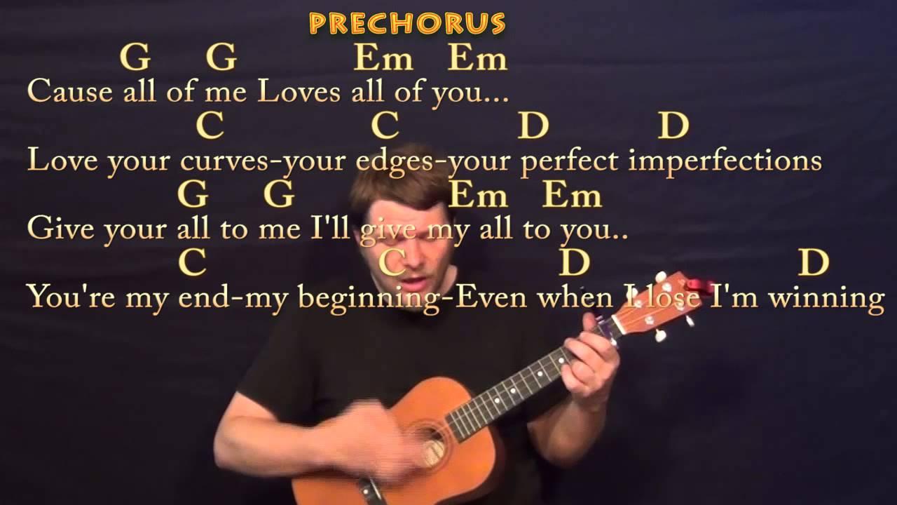 All Of Me (John Legend) Baritone Ukulele Cover Lesson with Chords / Lyrics - YouTube