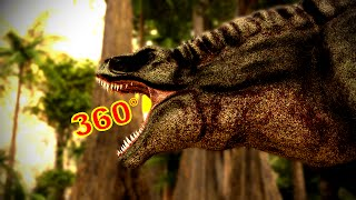 "360 Degree Jurassic Dinosaur Park CGI Movie - ""A T-Rex Named June"" Google Cardboard VR"
