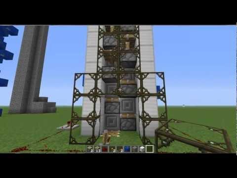 Minecraft Como fazer um elevador panorâmico e super rápido