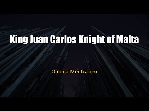 King Juan Carlos Knight of Malta