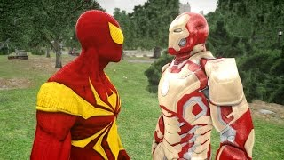 IRON SPIDER-MAN VS IRON MAN