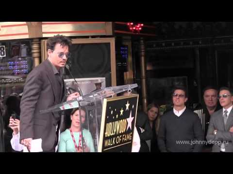 Johnny Depp speaks during the ceremony honoring Jerry Bruckheimer with a Star