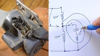 Rewiring a motor from 240 volts to 120 volts