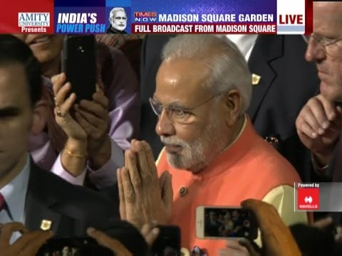 Narendra Modi arrives at Madison Square Garden