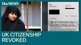 Shamima Begum has UK citizenship revoked by British government, ITV News learns | ITV News