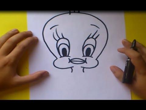 Como dibujar a Piolin paso a paso Looney Tunes How to draw Piolin Looney Tunes