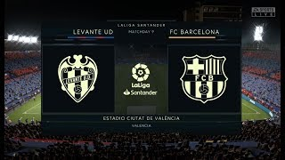 FIFA 20 - LEVANTE vs FC BARCELONA 02/11/2019 FULL MATCH HD
