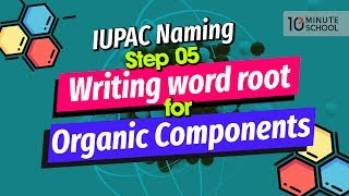 12. IUPAC Naming Step 05: Writing word root for Organic Components