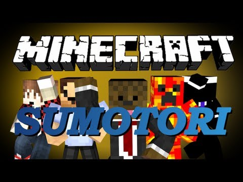 Minecraft SUMOTORI MiniGame w/ BajanCanadian, NoochM, TBNRFrags, Woofless and Jerome