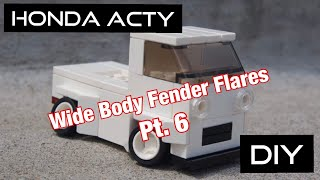 Honda Acty JDM Kei car mini truck project.  Episode 38, DIY fender flares pt.6