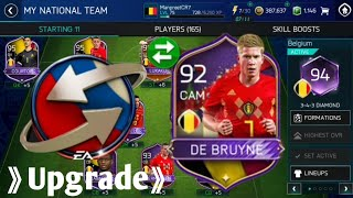 Insane team upgrade in World cup mode FIFA MOBILE 18! How to get exchange points + 92 De Bruyne!!