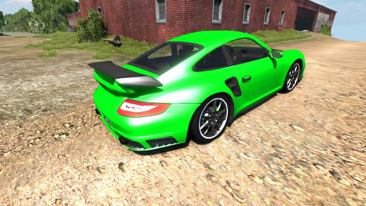 beamng drive alpha porsche 911 gt2 v4 1 crash testing 29 hd youtube. Black Bedroom Furniture Sets. Home Design Ideas