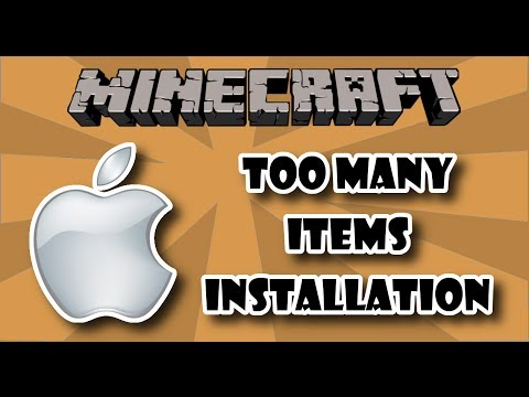 [1.7.2] Too Many Items Installation 2013 MAC Tutorial