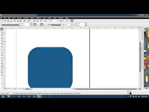 Android/iOS app icon template with CorelDraw X3 (Tutorial)