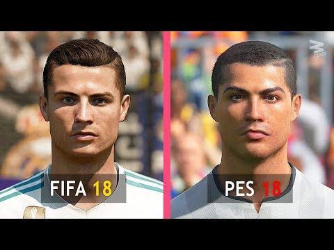 FIFA 18 Vs PES 18: Real Madrid Faces Comparison