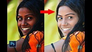 Photo retouching Tutorial    skin retouching    New photoshop tutorial