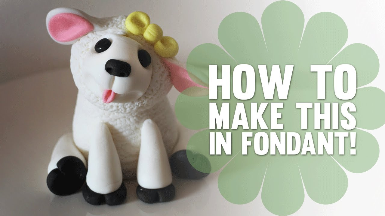 Cake Decorating How To Make Fondant : Learn How to Make a cute Fondant (Easter) Lamb - Cake ...