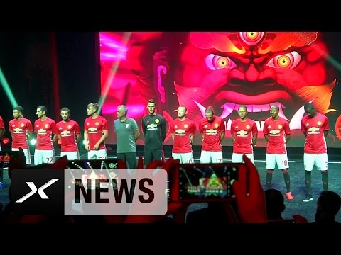 Dramatische Trikot-Präsentation Wayne Rooney und Co. | Manchester United