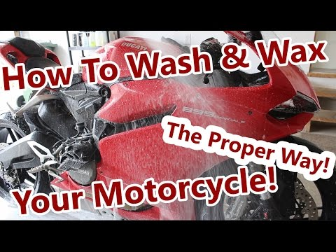 How to Wash & Wax your Motorcycle!