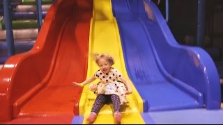 Indoor Playground Family Fun for Kids Part 3 with Spelling | Ball Pits, Inflatables, Slides, Games