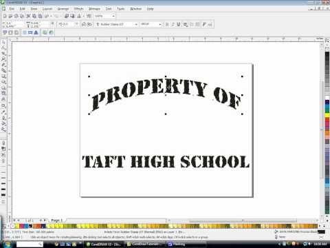 Creating a &quot;Property Of&quot; design in CorelDraw with Freelance Fridge
