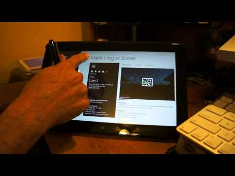 Samsung Series 7 Slate Tablet running Windows 8 Pro