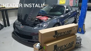 C6 Z06 Texas Speed Headers Install