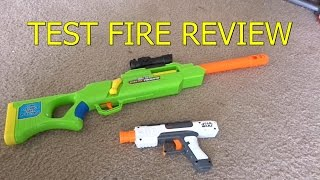 NERF WAR Test Fire - Sniper Rifle - Star Wars Pistol VS Solo Cup - Accuracy