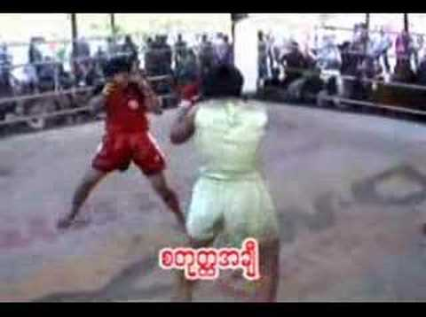 Myanmar Teen Girls Lethwei Kickboxing fight