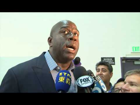 Magic Johnson thinks about Jeremy Lin as Lakers PG 魔術強生談林書豪擔任湖人隊的控球後衛