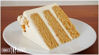 Moist Caramel Cake Recipe - Brown Butter Caramel Popcorn Cake!