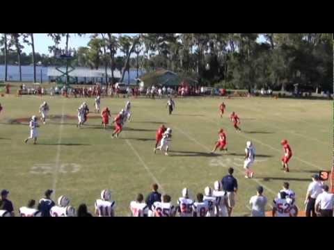 Matt Kulaga Indian Rocks Christian School Football - 12/14/2012