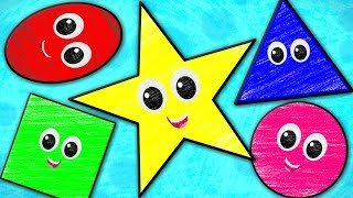 Five Little Shapes | Crayons Nursery Rhymes | Kids Songs | Baby Rhymes