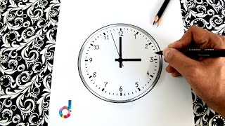 How to draw a Wall Clock step by step | Learn Draw | Coloring Pages for Kids