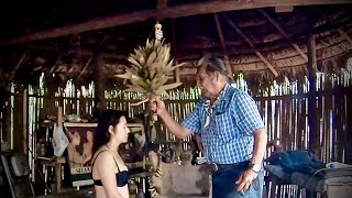 Nelly has a limpia (spiritual cleaning) by a shaman in Ecuador