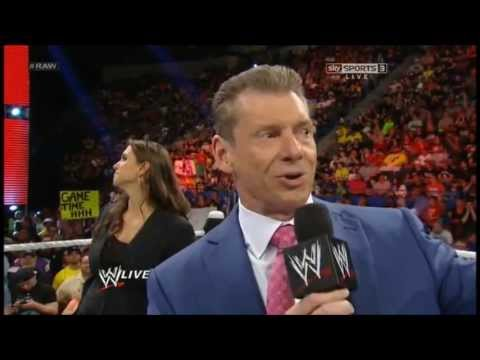 Stephanie McMahon & Vince McMahon returns and speak about Triple H ! RAW June 03rd 2013