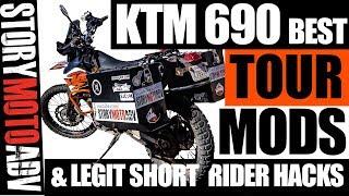 BEST KTM 690 Enduro R TOURING MODS (Affordable ) + Short Rider Hacks