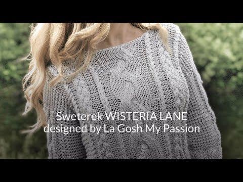JAK ZROBIĆ LETNI SWETEREK Z Bawełny - How To Knit Wisteria Lane By LGMP