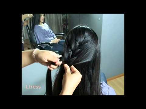 Ltress' beautiful chinese model  - Huang Rong - side fishtail braid hairstyle