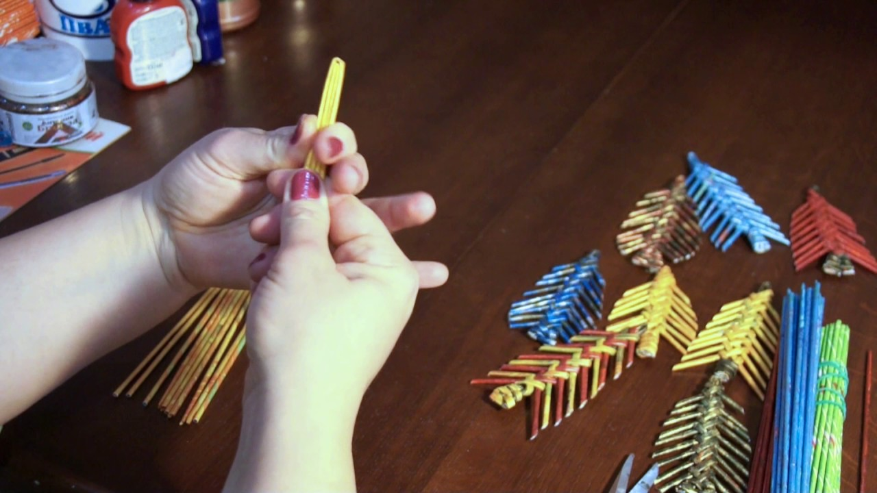 Игрушки из бумажных трубочек своими руками 91