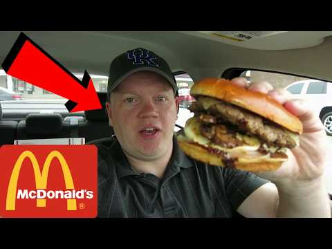 Reed Reviews McDonald's Mushroom Swiss Melt Signature Crafted Burger