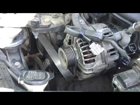 How to change alternator Toyota Corolla. VVTi engine.Years 2000-2008