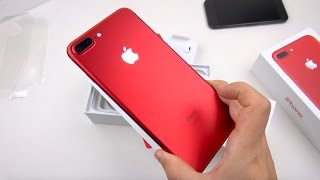 RED iPhone 7 Plus Unboxing & Close-ups!