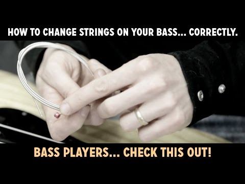 How To Change Strings On (restring) Your Bass... Correctly. Watch This! video