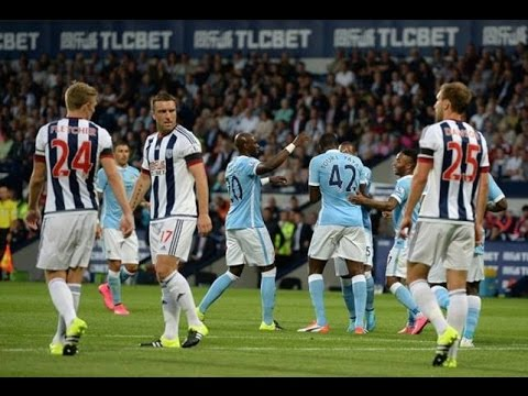 Manchester city vs West brom 3-0 All Goals 2015 English Premier league(YaYa 2 goal-Company 1 goal)